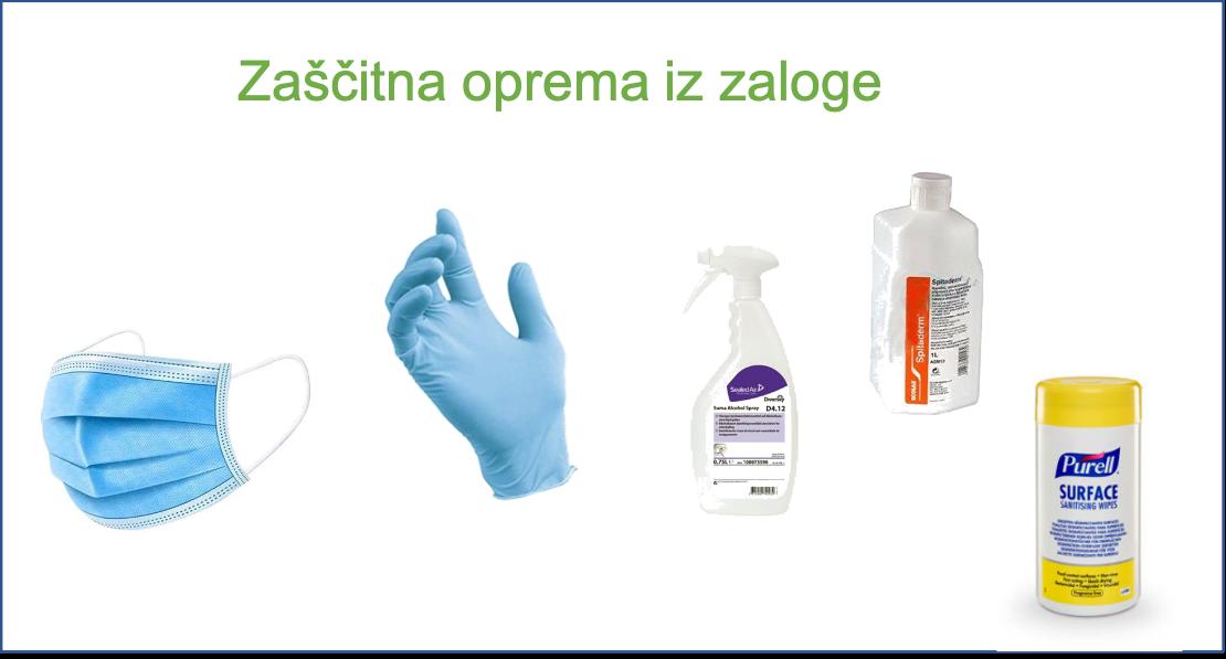 Zaščitna oprema (maske, rokavice, dezinfekcija)